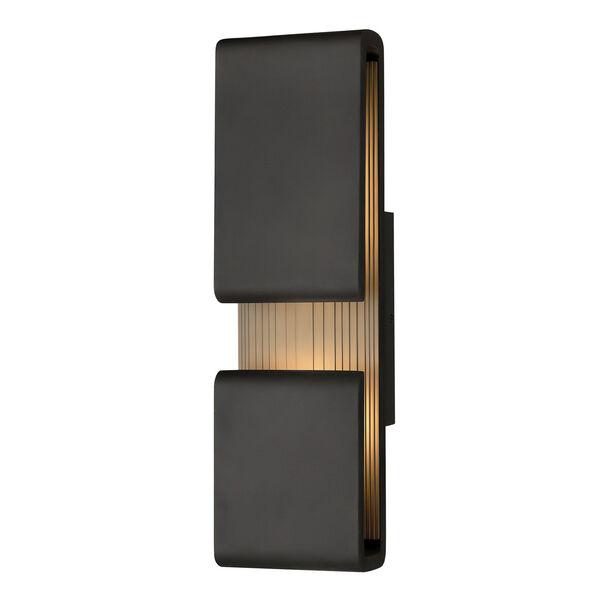 Contour Black Six-Inch LED Wall Mount, image 1