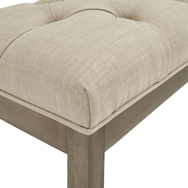 Amy Beige Tufted Reclaimed Uphlstered Bench, image 4