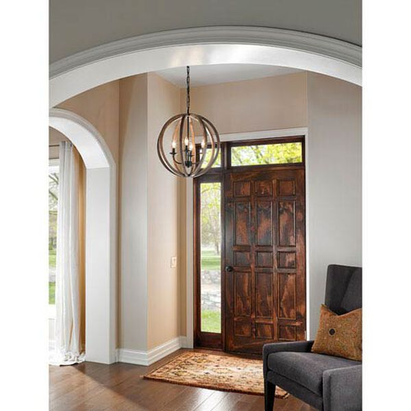 Hyattstown Weathered Wood and Iron Five-Light Chandelier, image 2