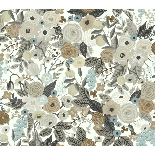 Rifle Paper Co. Brown and Beige Garden Party Wallpaper, image 2