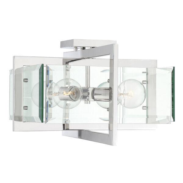 Ethan Polished Nickel Four-Light Semi-Flush, image 4