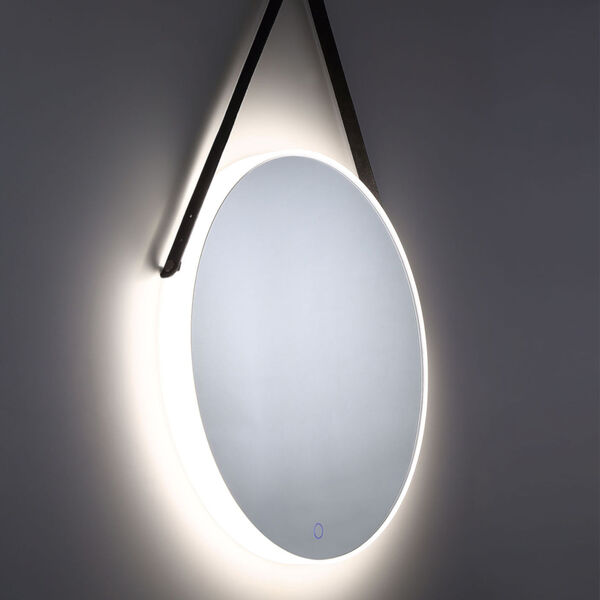 Silver One-Light LED Mirror, image 5