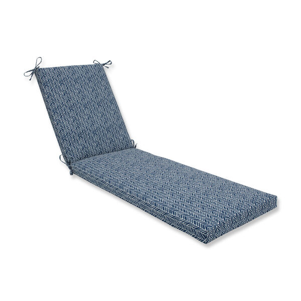 Outdoor / Indoor Herringbone Ink Blue Chaise Lounge Cushion 80x23x3, image 1