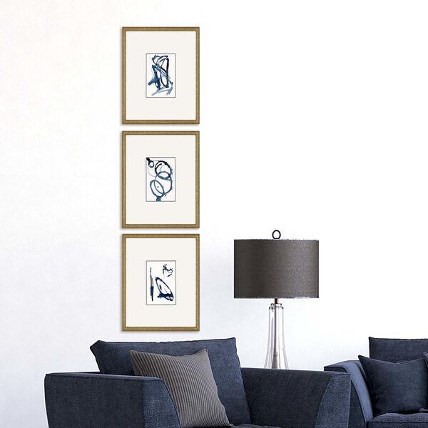 Mayhem II Blue Framed Art, Set of Three, image 1