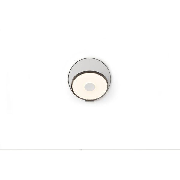 Gravy Metallic Black Silver LED Hardwire Wall Sconce, image 1