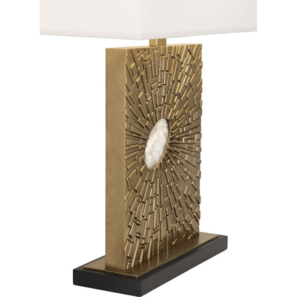 Goliath Antiqued Modern Brass One-Light Table Lamp, image 2