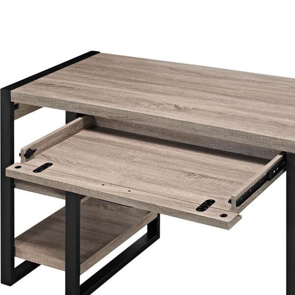 Urban Blend Grey 60-Inch Storage Desk, image 4