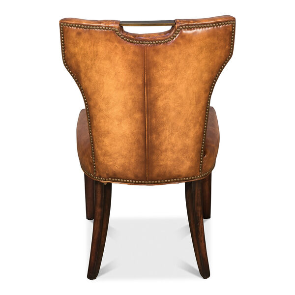 Brown Upholsterd Chairs, image 4