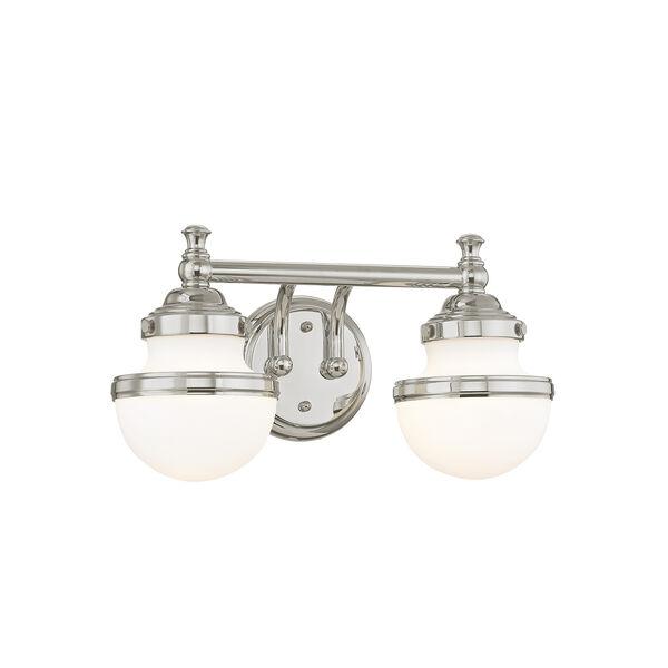 Oldwick Polished Chrome Two-Light 15-Inch Bath Vanity, image 5
