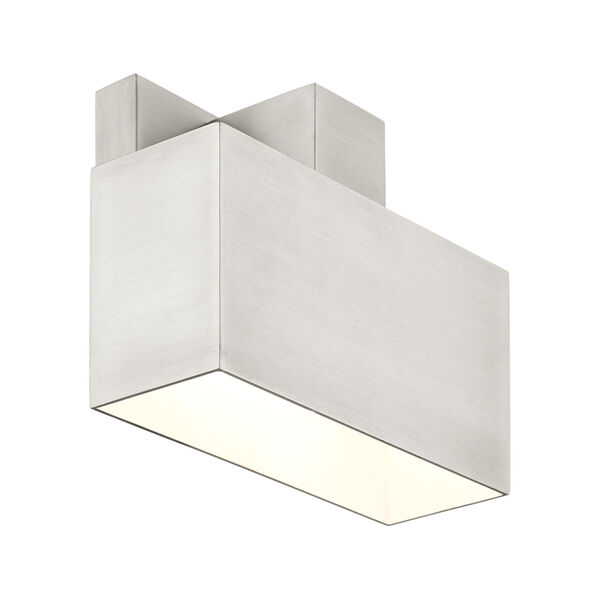 Lynx Brushed Nickel Seven-Inch One-Light Outdoor ADA Wall Sconce, image 5