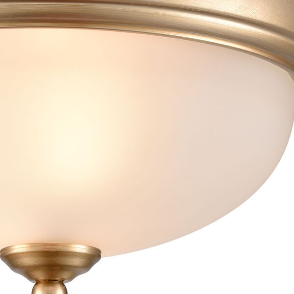 Huntington Satin Gold 11-Inch Two-Light Flush Mount, image 4