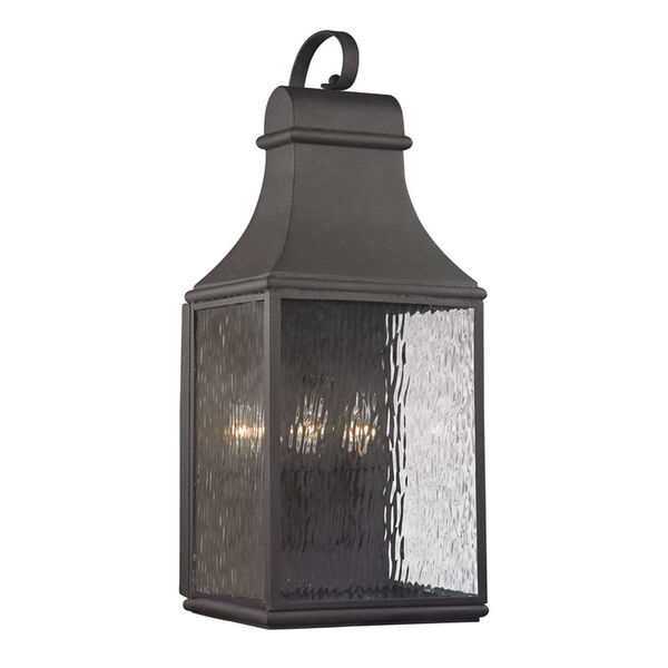 Forged Jefferson Charcoal 27-Inch Three Light Outdoor Wall Sconce, image 1