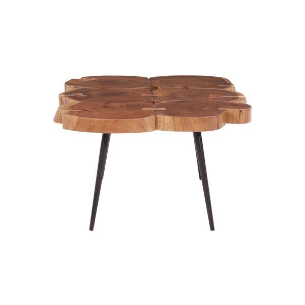 Aurelio Brown and Black Live Edge Large Coffee Table, image 3