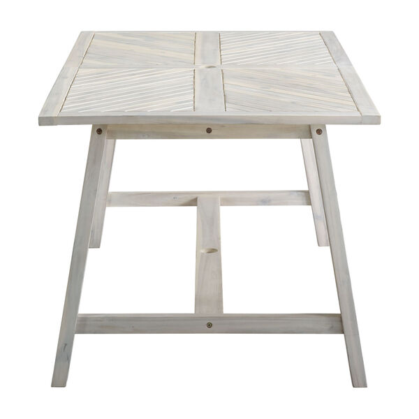 Vincent White Wash Outdoor Dining Table, image 2