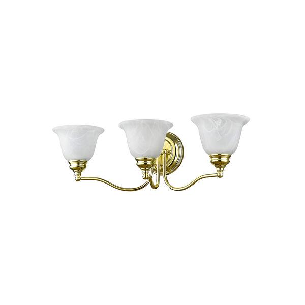 Essex Polished Brass 24-Inch Three-Light Bath Light, image 2