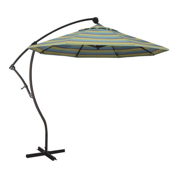 Bayside Bronze with Astoria Lagoon Nine-Feet Sunbrella Patio Umbrella, image 1