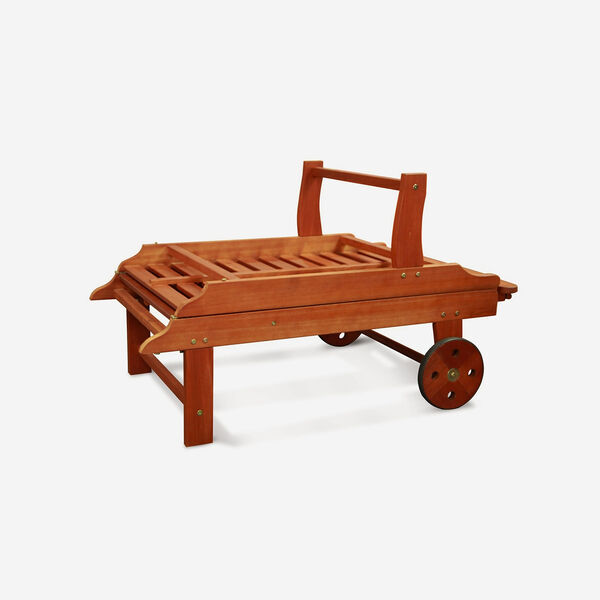 Single Outdoor Wood Chaise Lounge, image 5