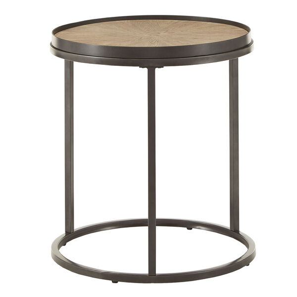 Cliff Gray Oak Round End Table, image 4