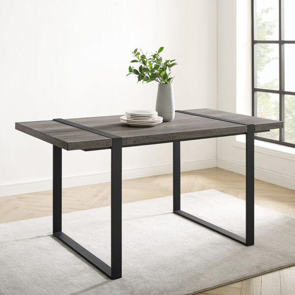 Urban Blend Gray and Black Dining Table, image 3