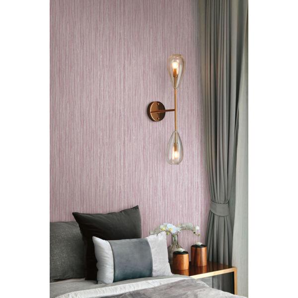 Antonina Vella Elegant Earth Berry Temperate Veil Stripes Wallpaper, image 4