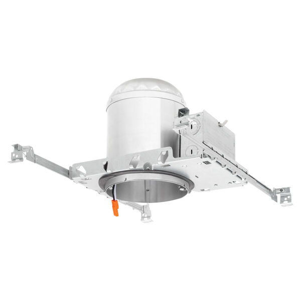 White Six-Inch LED Recessed Construction Can, image 1