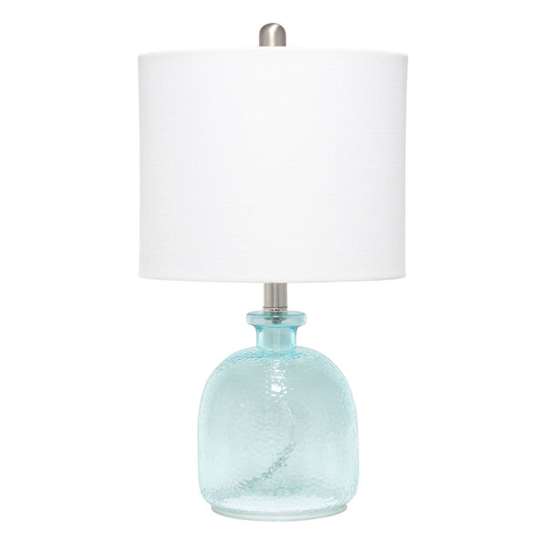 Cerise Clear Blue White One-Light Table Lamp, image 1