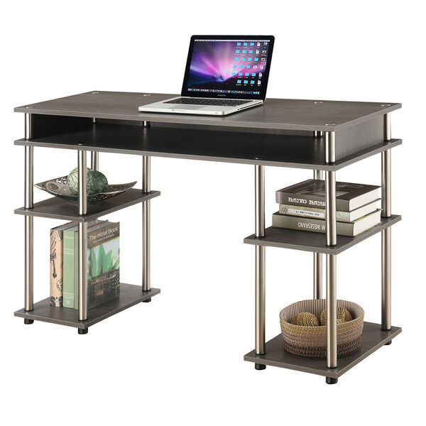 Designs2Go Charcoal Gray No Tools Student Desk, image 5