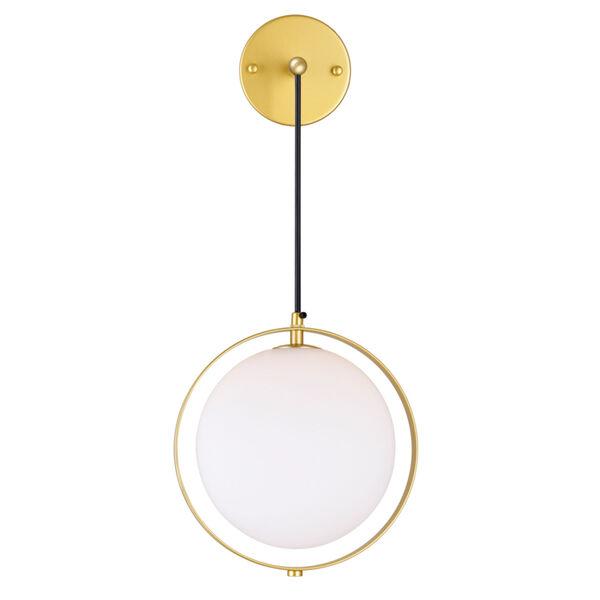 Da Vinci Brass 29-Inch LED Wall Sconce, image 2