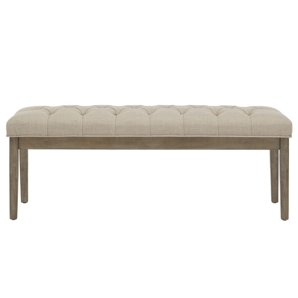 Amy Beige Tufted Reclaimed Uphlstered Bench, image 2