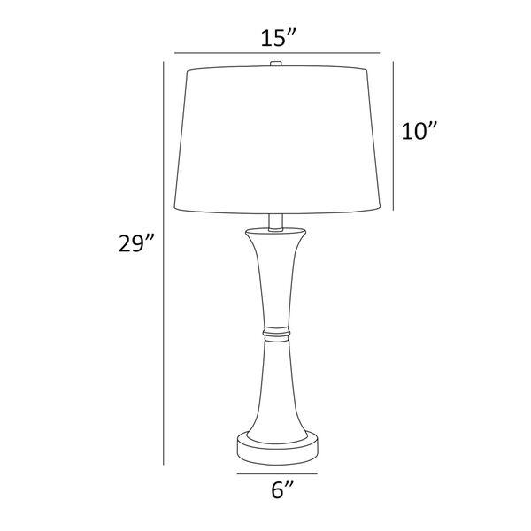 Gavino Brushed Nickel Two-Light Table Lamp, Set of Two, image 4