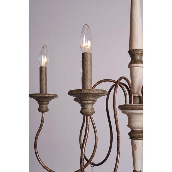 Grace Antiqued Six-Light Chandelier, image 5