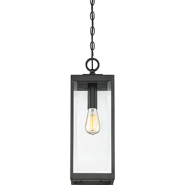 Pax Black One-Light Outdoor Pendant with Beveled Glass, image 5