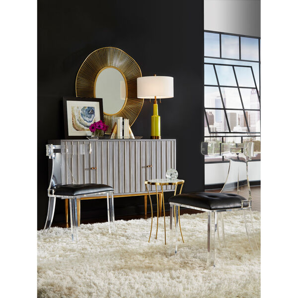 White and Gold 35-Inch Luton Mirror, image 5