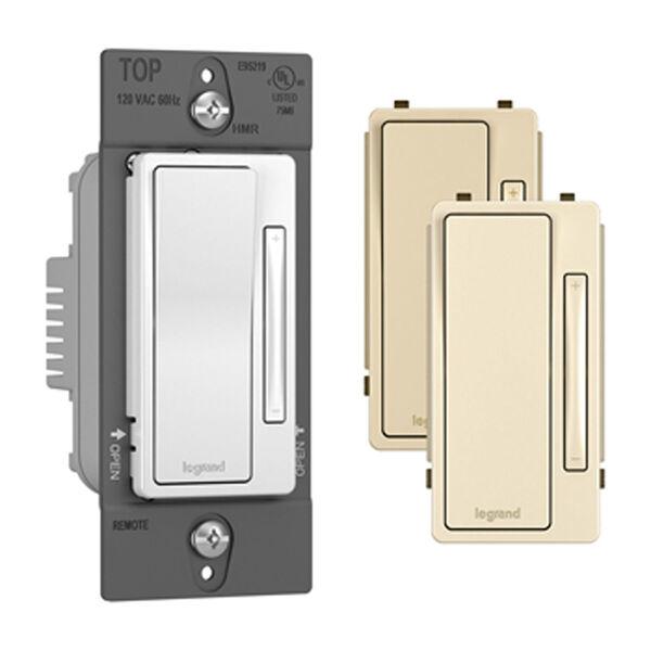 Tri-Color Single Pole 3-Way Multi-Location Remote Dimmer, image 1