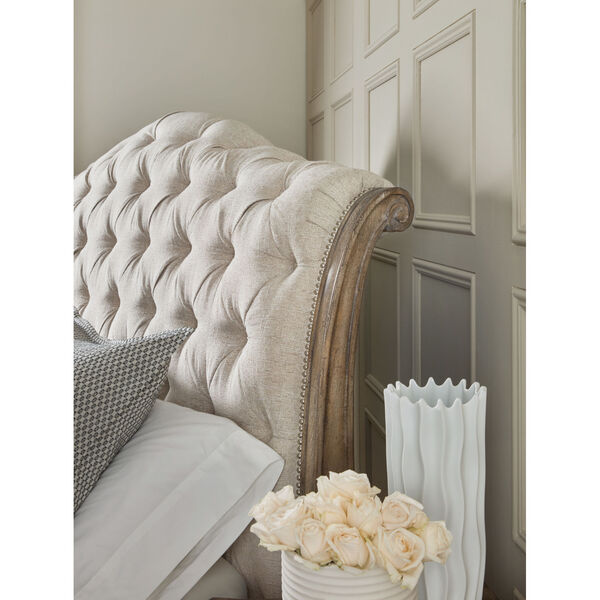 Castella Brown Tufted Bed, image 3
