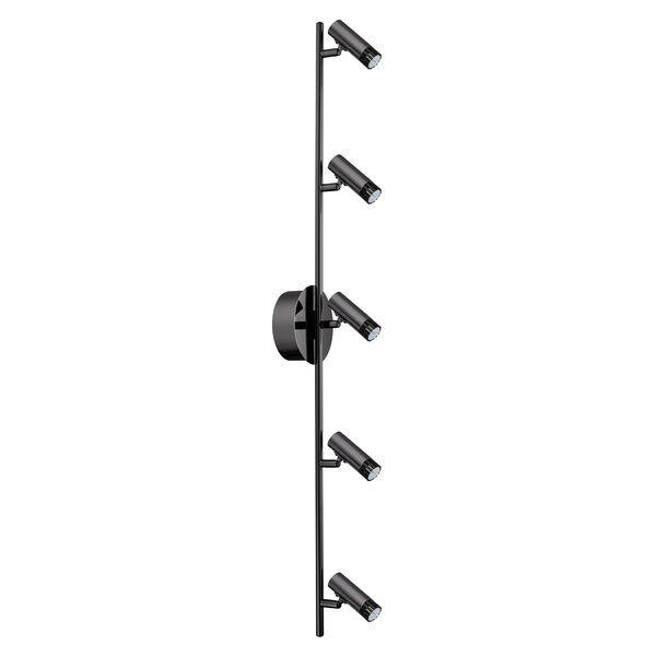 Lianello Black Chrome 39.5-Inch Five-Light LED Track Light, image 1