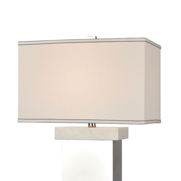 Keystone Silver and White One-Light Table Lamp, image 3