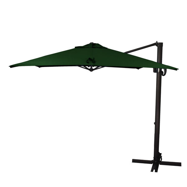 Cali Bronze with Forest Green Nine-Feet Sunbrella Patio Umbrella, image 1