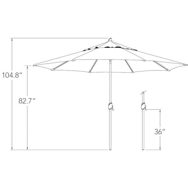 Lanai Pro Black Octagon Auto Tilt Market Umbrella, image 3