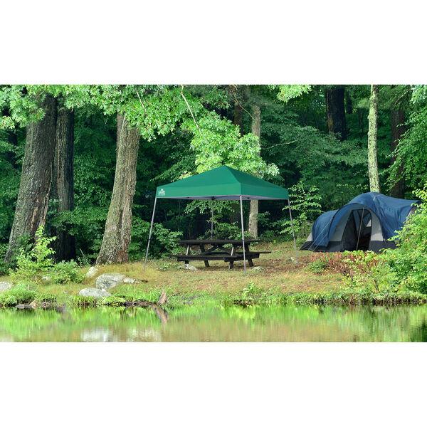 Green Silver 10 x 10 Slant Leg Pop-Up Canopy, image 2