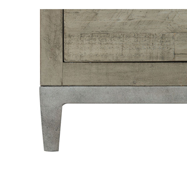 Glazed Silver and Brown 32-Inch Loft Shaw Nightstand, image 4