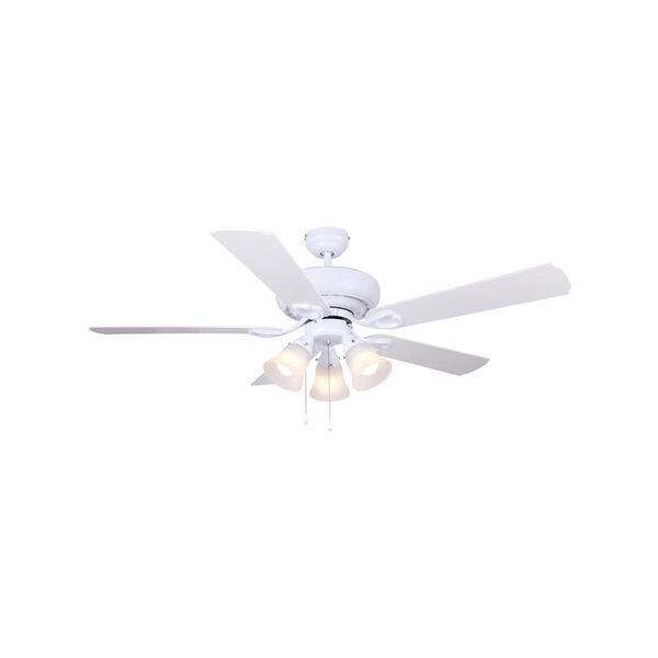 Asta White 52-Inch Three-Light LED Ceiling Fan, image 1
