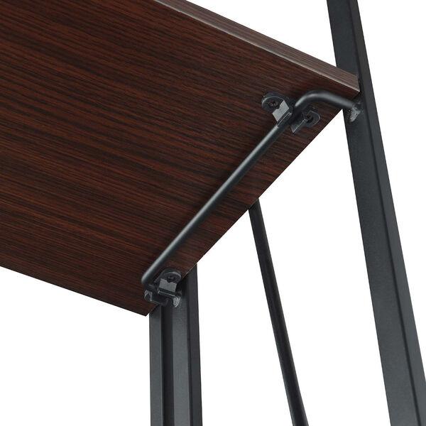Xtra Espresso and Black Folding Four Tier Bookshelf, image 4