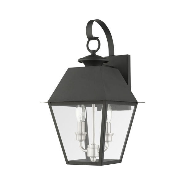 Mansfield Black Two-Light Outdoor Wall Lantern, image 2