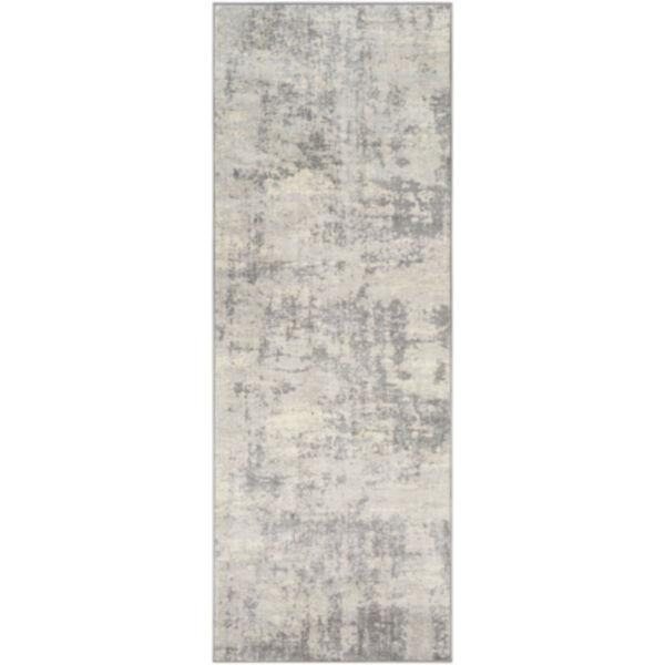 Monaco Silver Gray and Medium Gray Rectangular Rug, image 1
