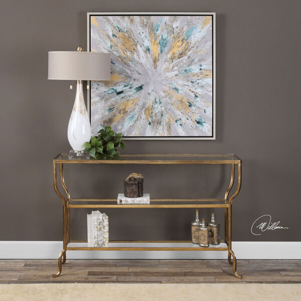 Deline Gold Console Table, image 2