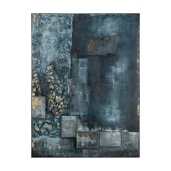 Sink Hole Teal and Blue Wall Art, image 1