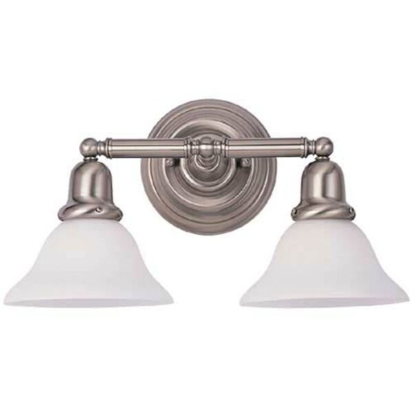 Sussex Brushed Nickel Two-Light Bath Fixture, image 1