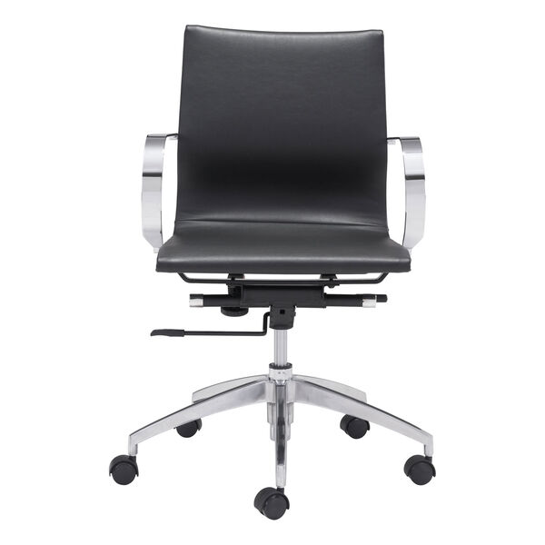Glider Low Back Office Chair Black, image 3