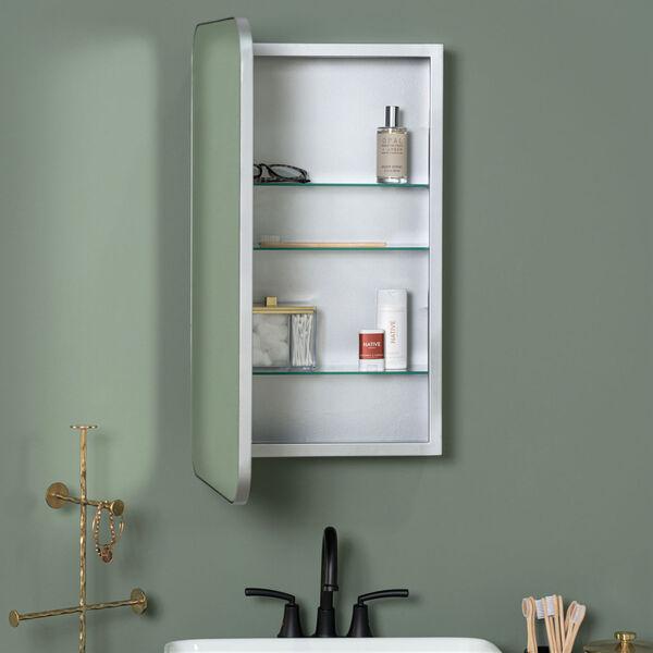 Hadley Silver Medicine Cabinet, image 1